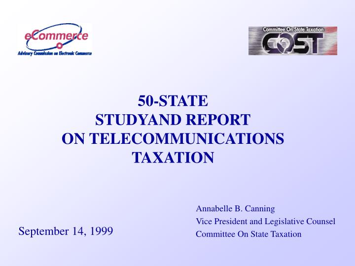 50 state studyand report on telecommunications taxation