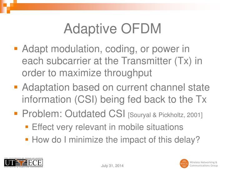 Adaptive OFDM