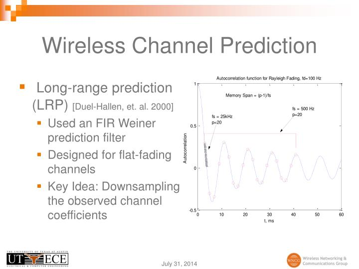 Wireless channel prediction