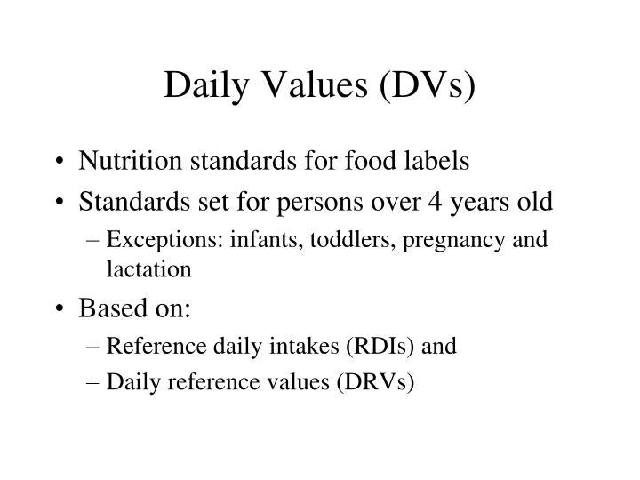 Daily Values (DVs)
