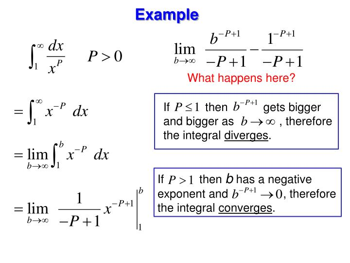 If           then           gets bigger and bigger as              , therefore the integral