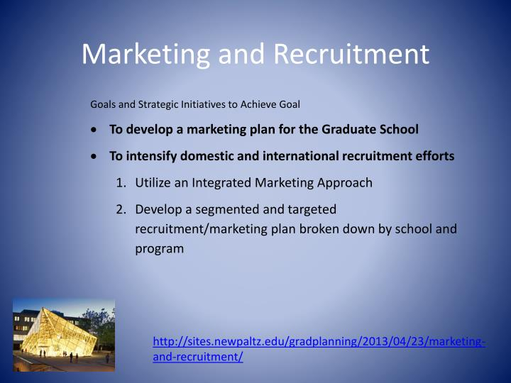 Marketing and Recruitment