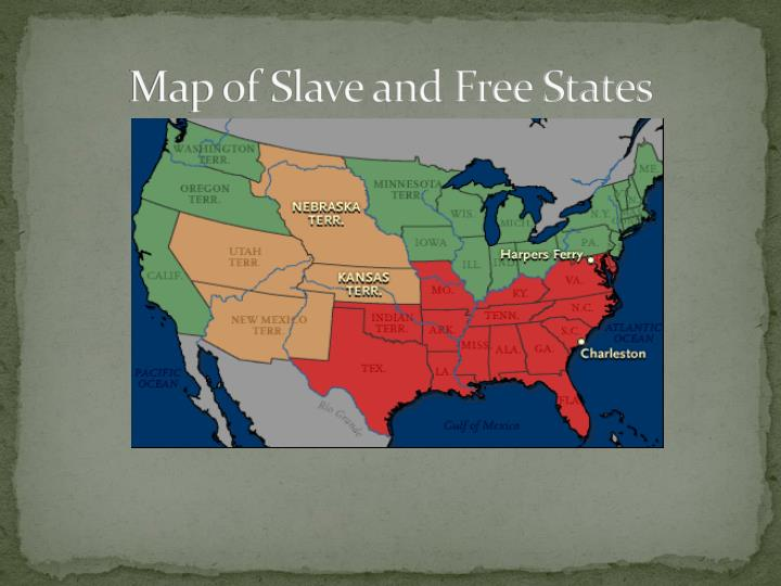 Map of Slave and Free States