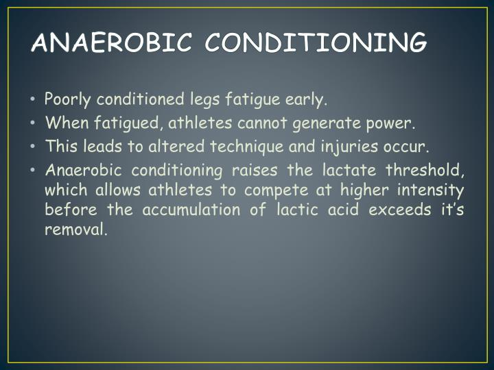 ANAEROBIC CONDITIONING