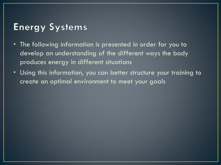 Energy systems1