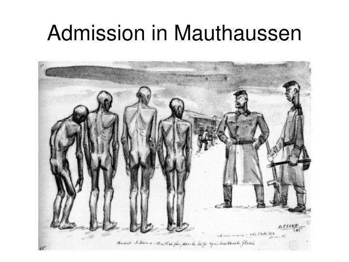 Admission in mauthaussen