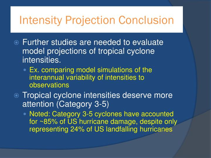 Intensity Projection Conclusion