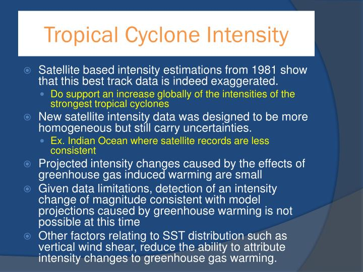 Tropical Cyclone Intensity