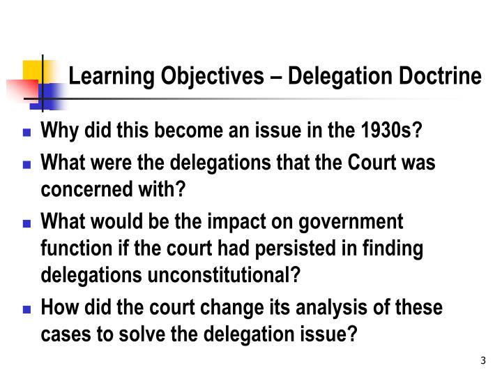 Learning Objectives – Delegation