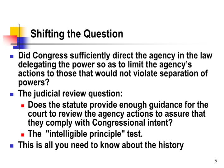 Shifting the Question