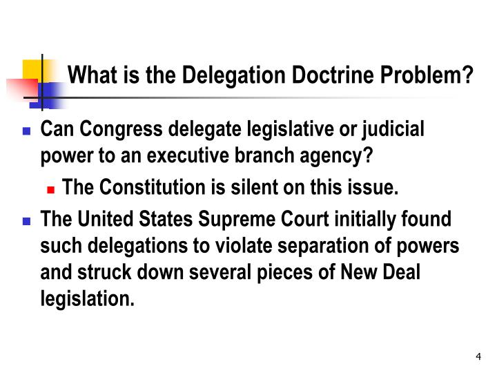 What is the Delegation Doctrine
