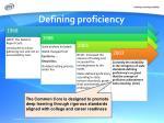 defining proficiency