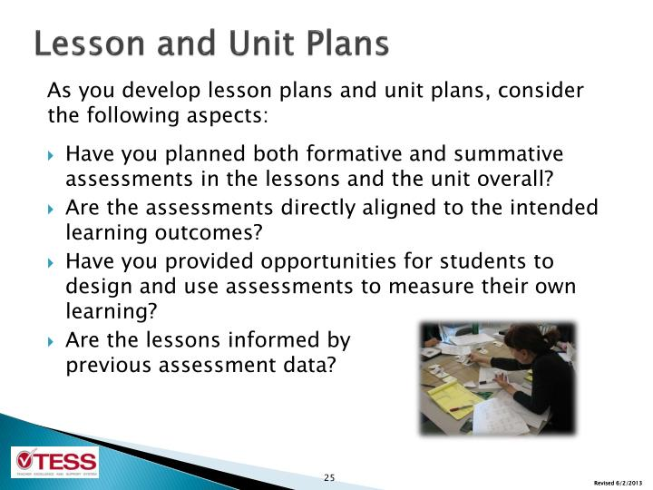 Lesson and Unit Plans