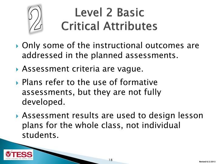 Level 2 Basic