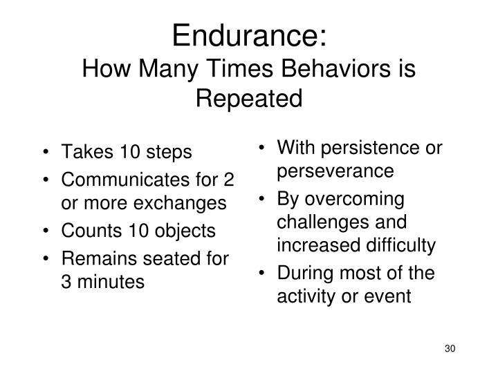 Endurance: