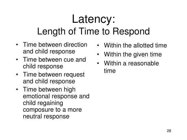 Latency:
