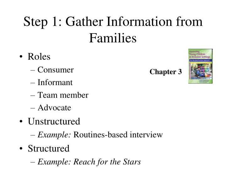 Step 1: Gather Information from Families