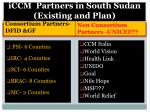 iccm partners in south sudan existing and plan