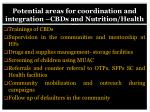 potential areas for coordination and integration cbds and nutrition health