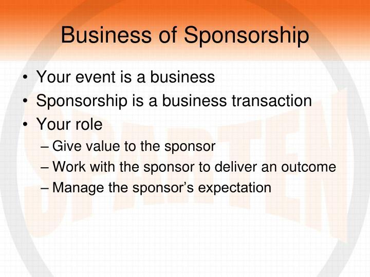 Business of Sponsorship