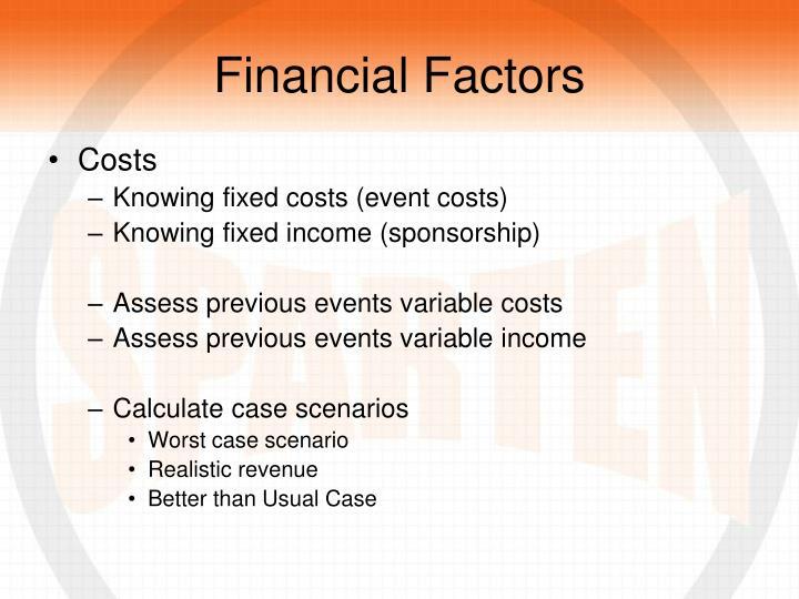 Financial Factors