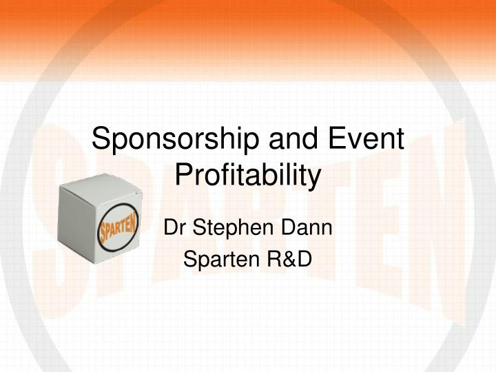 Sponsorship and event profitability