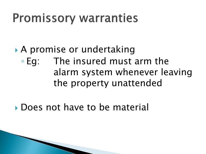 Promissory warranties