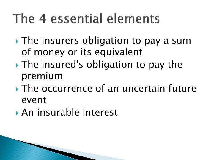 The 4 essential elements