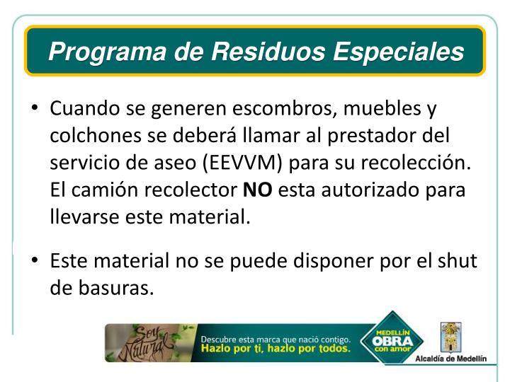 Programa de Residuos