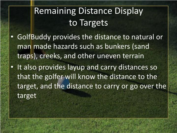 Remaining Distance Display