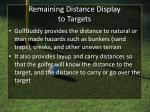 remaining distance display to targets