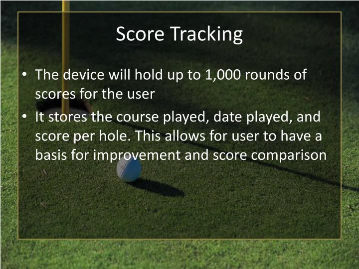 Score Tracking