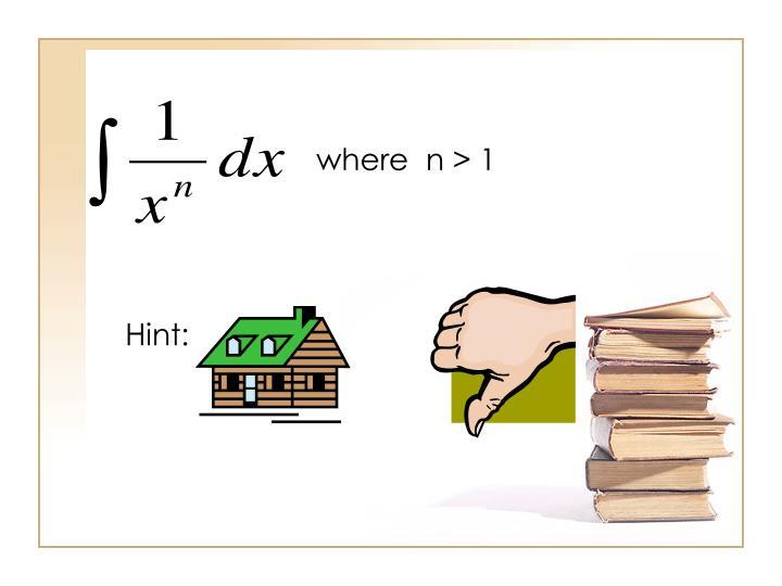 where  n > 1