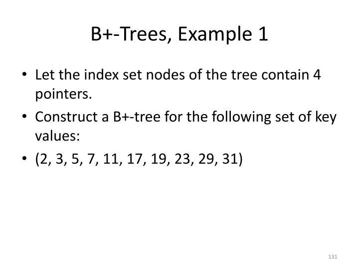B+-Trees, Example 1