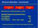 revenue allocation incremental
