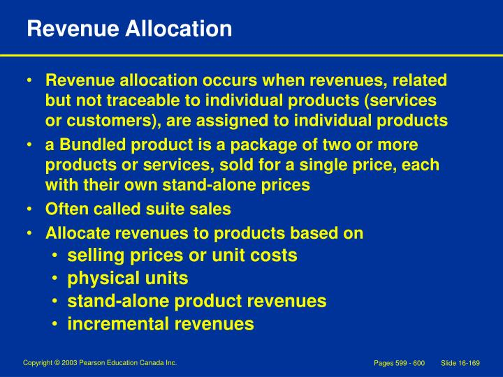 Revenue Allocation