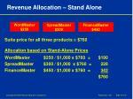 revenue allocation stand alone