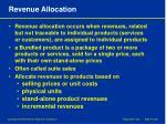revenue allocation