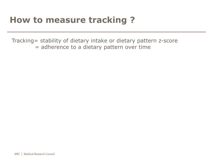 How to measure tracking ?
