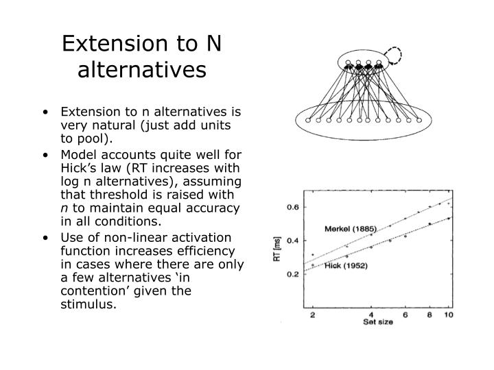 Extension to N alternatives
