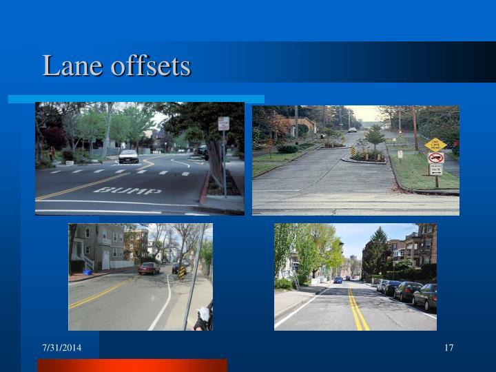 Lane offsets