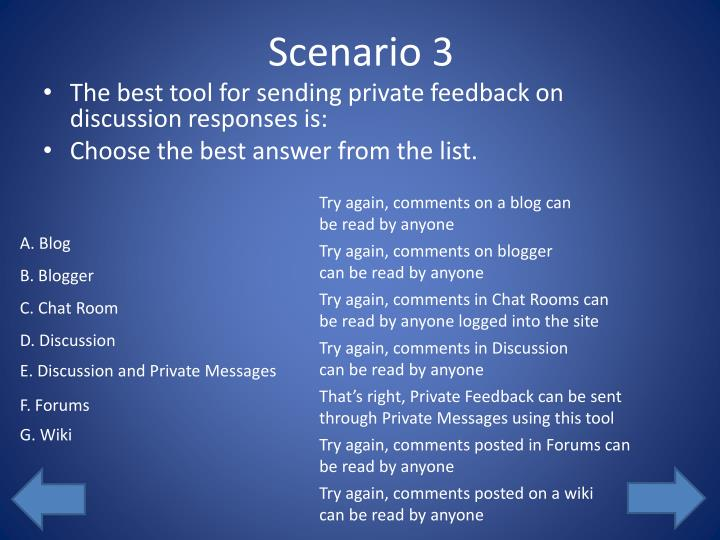 Scenario 3