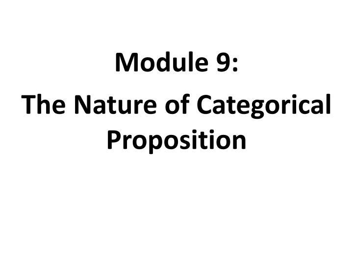 Module 9: