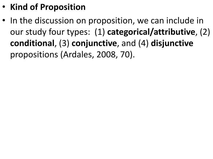Kind of Proposition
