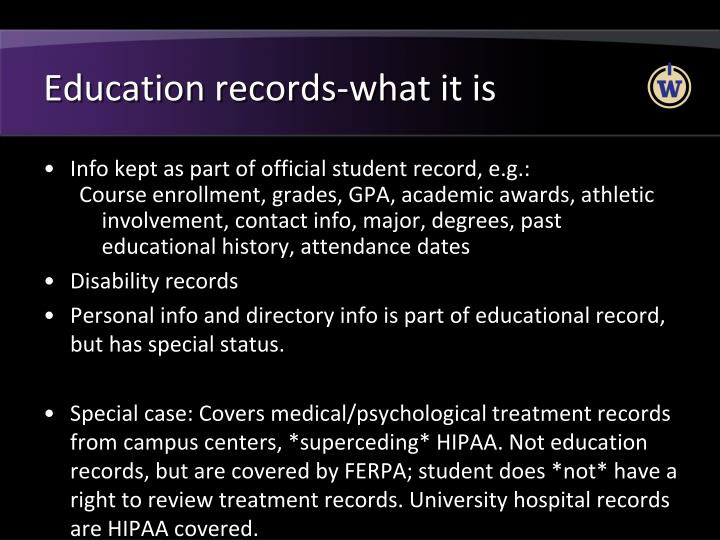 Education records-what it is