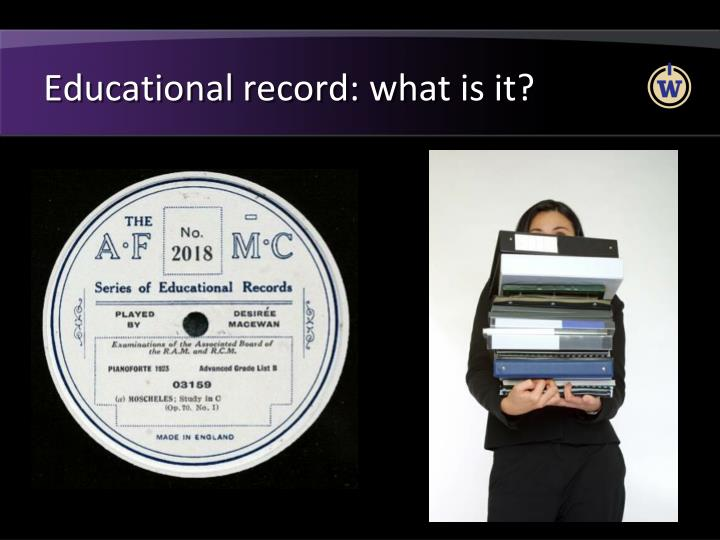 Educational record: what is it?