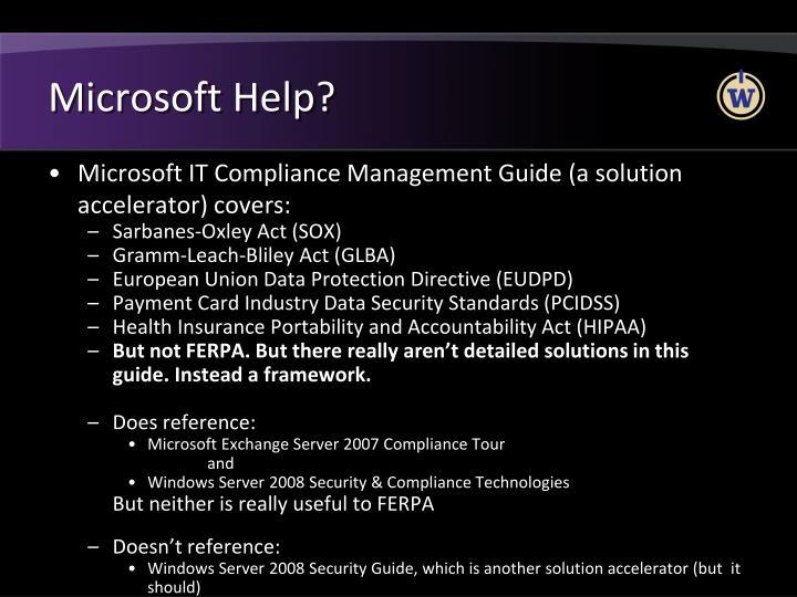 Microsoft Help?