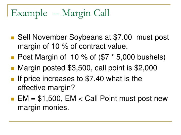 Example  -- Margin Call