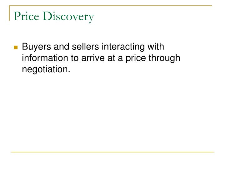 Price Discovery