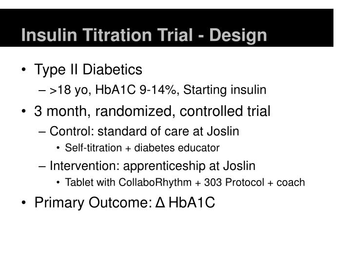 Insulin titration trial design